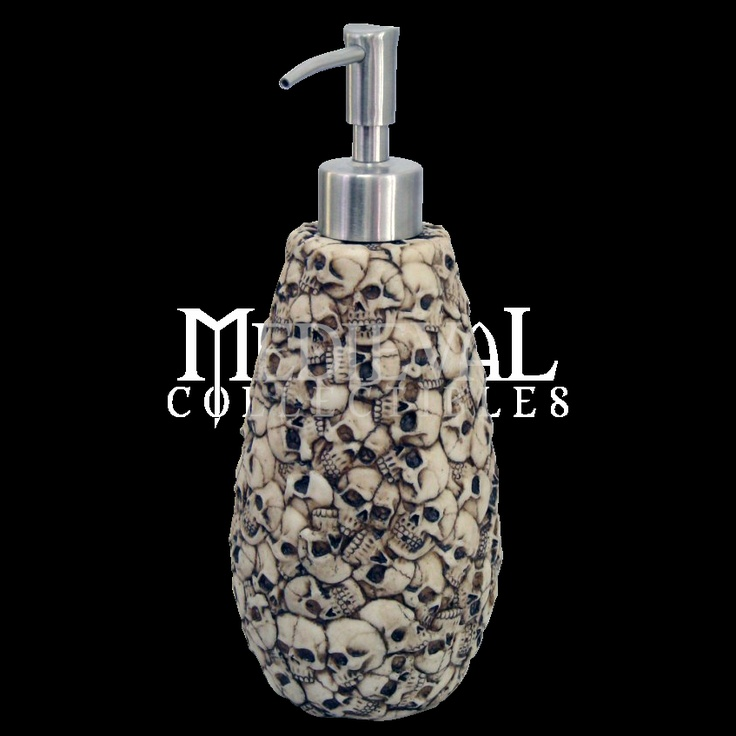Pile Of Skulls Soap Dispenser Cute And I Can See The Appeal Though Ossuary Is Not My Theme Of Choice For Bathroom Decor
