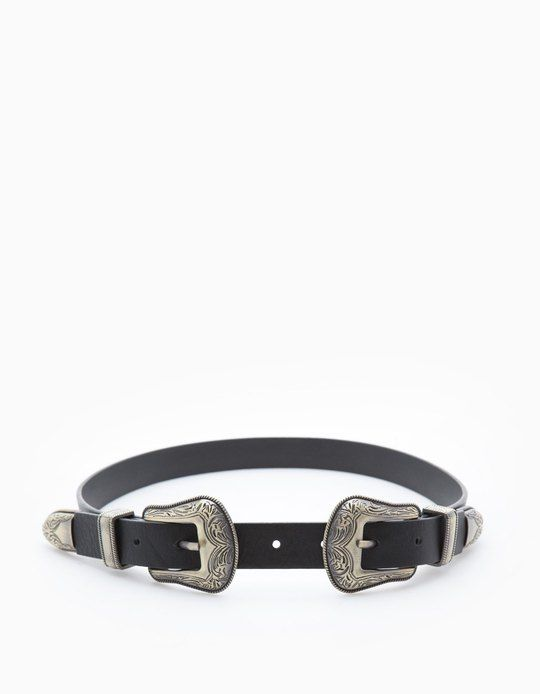 At Stradivarius you'll find 1 Double buckle belt for woman for just 249 UAH . Visit now to discover this and more ACCESSORIES.
