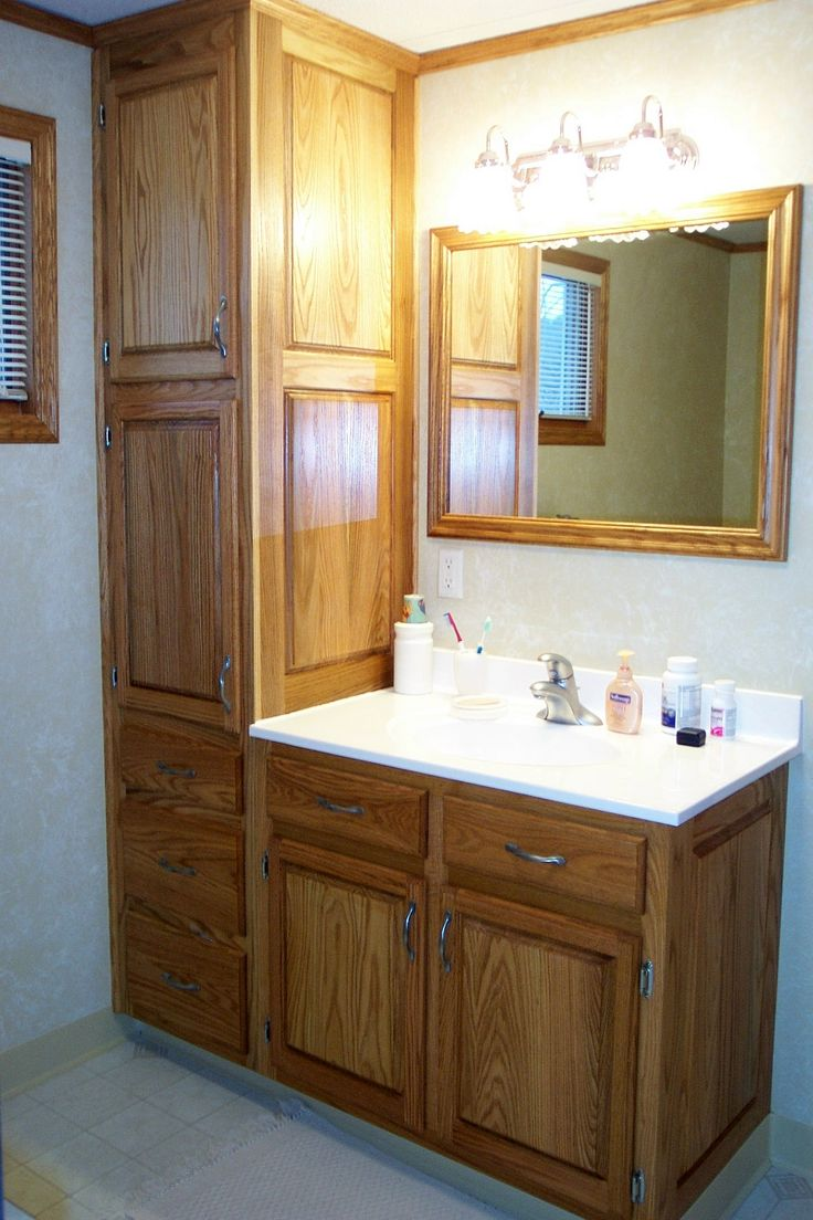 Delighful Bathroom Cabinets Small And More On 2 Remodels Decor