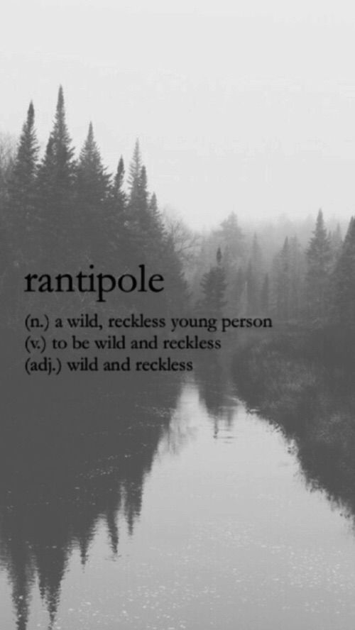 Rantipole (n) a wild, reckless young person
