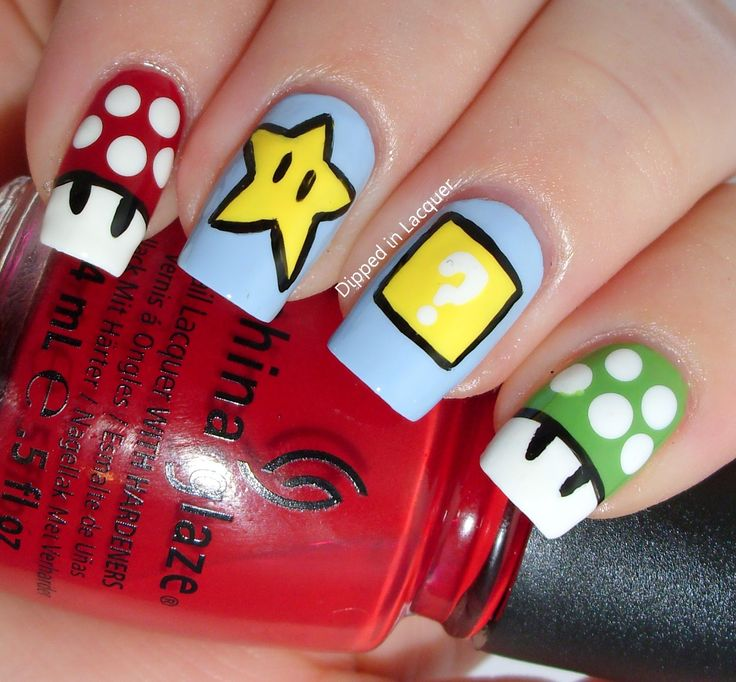Dipped in Lacquer: Comic-Con Geek Week Nail Art Challenge - Inspired by a Video Game