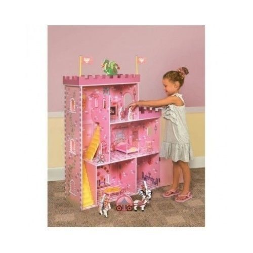 Large Doll House Fantasy Castle Wooden Dollhouse Review - http://www.mommytodaymagazine.com/toys/large-doll-house-fantasy-castle-wooden-dollhouse-review/