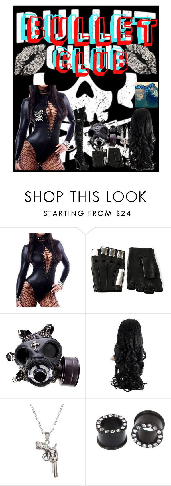 """👈Bullet Club Member 👉"" by xxxburningcoldxxx ❤ liked on Polyvore featuring Majesty Black, Chrome Hearts, La Preciosa and Oliver Gal Artist Co."