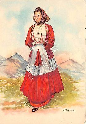 Cartolina - Illustrata - Pezzotti - Costumi Sardi - Fonni - Carta Opaca