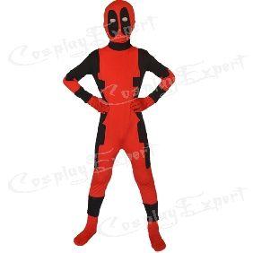 Children Deadpool Zentai Suit Superhero Halloween Costume