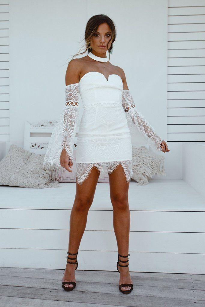 Katherine Lace Dress - White  f686d85d0