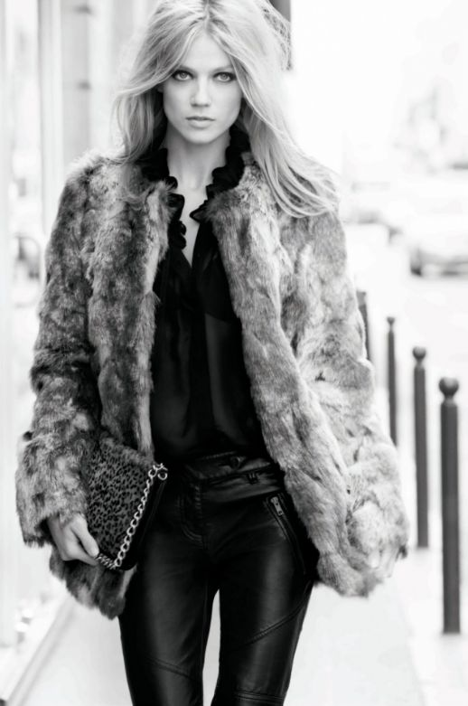 Everything Fabulous: Fashion Inspiration: Middle Part, Pale Blonde Find a great fur coat in Toronto - visit the Yukon Fur Co. at http://yukonfur.com: Fur Coats, Faux Fur, Fashion, Winter, Style, Outfit, Leather Pants, Hair