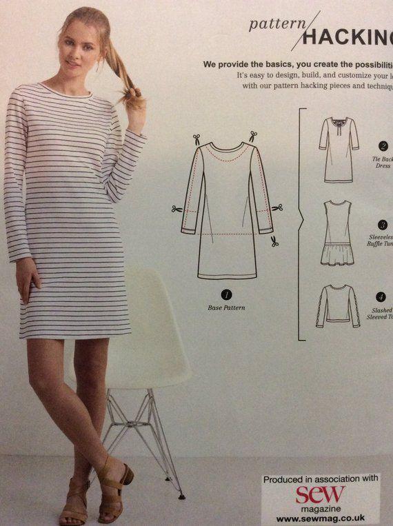 fa9a8d00c8 Misses' Knit Dress or Top Pattern Options for Design Hacking Size XXSmall  XS S M L XL XXL Simplicity K8375 8375 Uncut