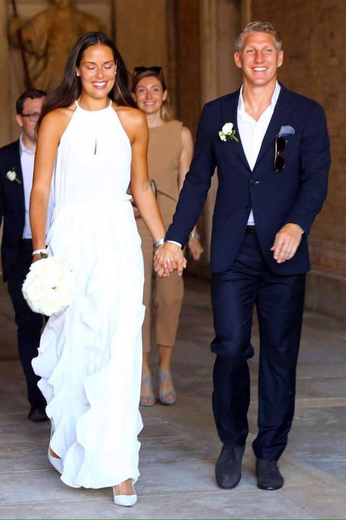 Man United star Bastian Schweinsteiger and tennis star Ana Ivanovic don marry | MAN UNITED IN PIDGIN