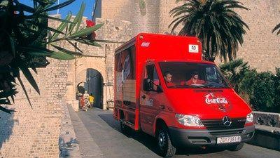 Coca Cola HBC delivery truck in Dubrovnik