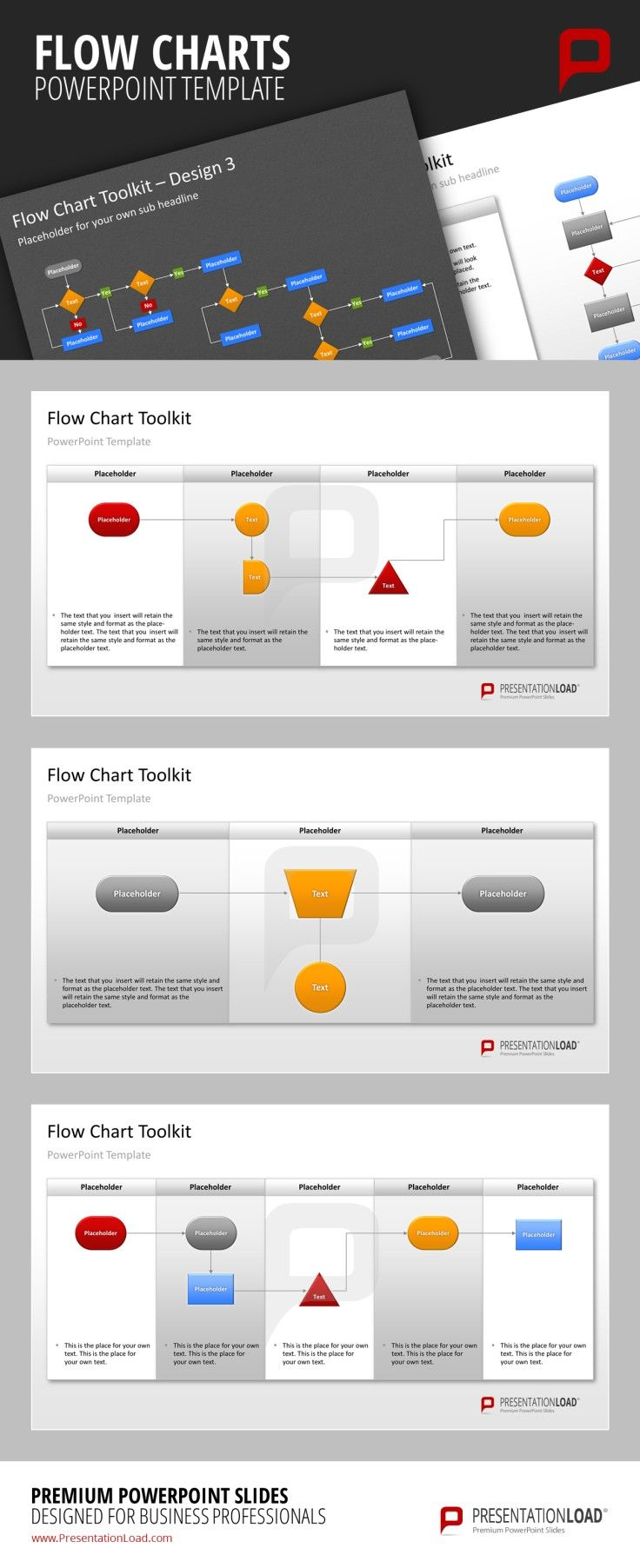 Flow charts powerpoint templates you can easily change the colors flow charts powerpoint templates you can easily change the colors of each individual charts according to your needs presentationload present nvjuhfo Images