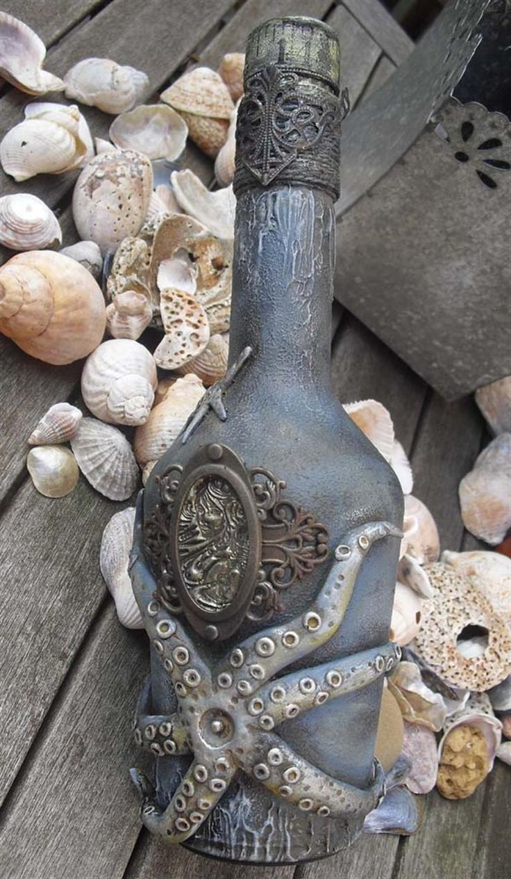 Altered Bottle -- something to represent water? A gift to honor Poseidon? So many options.