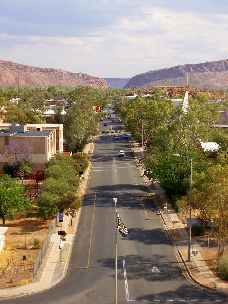 Alice Springs in Australia - its location smack bang in the middle of the continent makes it THE place to go if you want to see some of the Australian Outback.