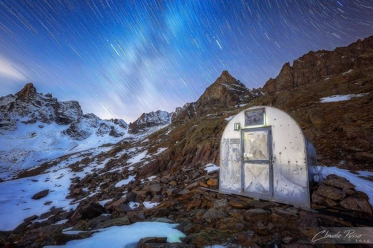 ⭐ SELECTION OF THE DAY ⭐  by #Expo #FineArt #Photography Notte di stelle sotto il Monte, Monte Nero Lucana (TO) - 2015 Photo © Claudio Russa #Landscape