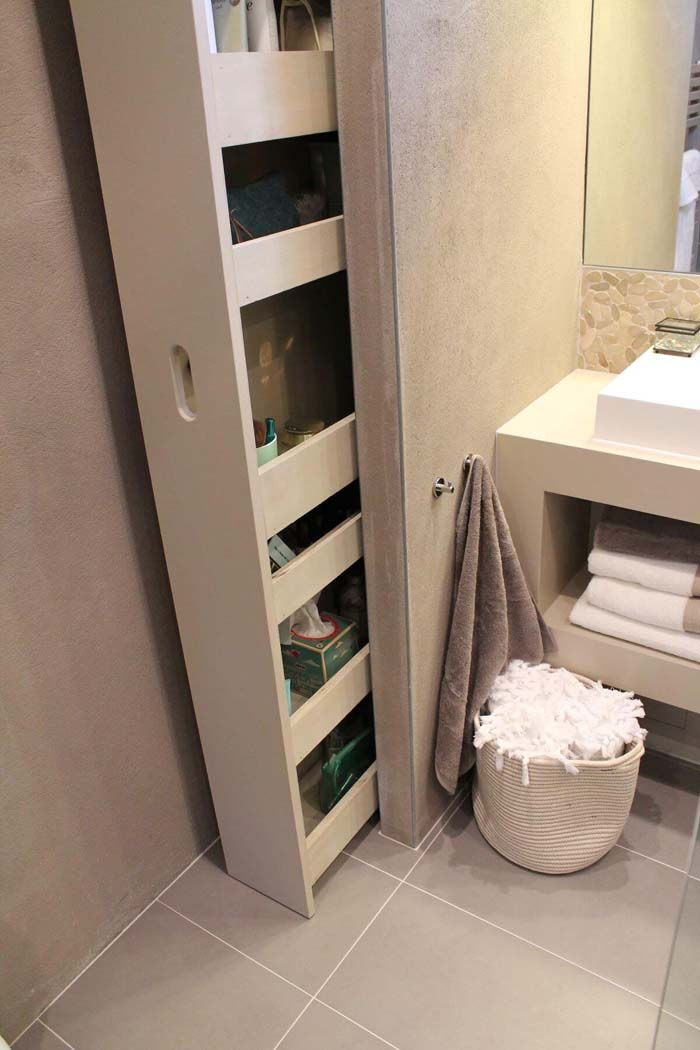 28 Fabulous Built In Storage Ideas To Free Up More Living Space Trendy Bathroom Bathroom Interior Design Bathroom Interior