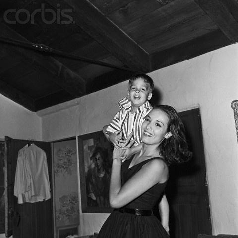 Anna Kashfi and Son, Ex-Wife of Marlon Brando