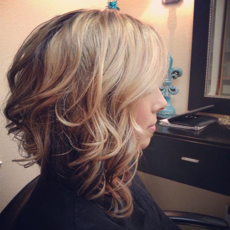 When I want curls...Long Asymmetrical Bob | Long asymmetrical bob www.missionsmaneattraction.com