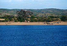 Orilla mozambiqueña del Lago Malaui.