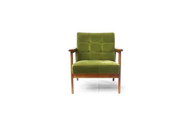 Karimoku60 K Chair 1seater Moquette Green カリモク カリモク60 Kチェア ソファ 椅子 レトロ インテリア 家具 デザイン グリーン レトロインテリア 1人暮らし コンパクト 杉並 古一 阿佐ヶ谷 中央線 くらし 椅子 カリモク60 ソファ
