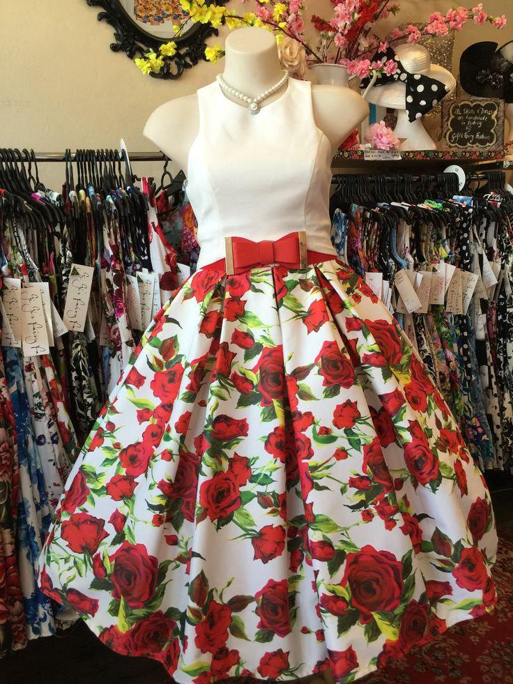 High Tea Red Roses Double Box Pleated Skirt – GiGi's Fairy Fashion