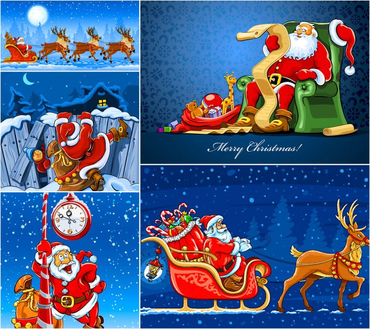 #Santa Claus backgrounds #vector