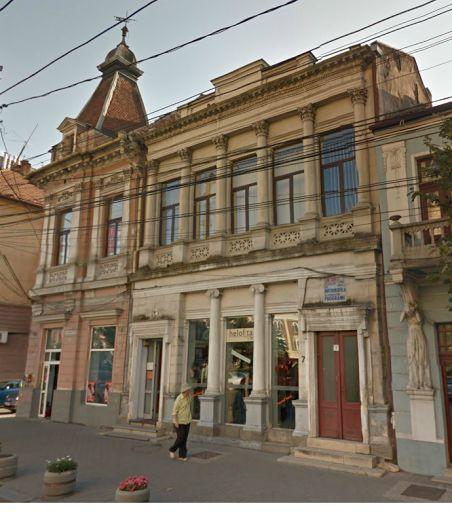 A kolozsvári Unio páholy páholyháza ma / The old masonic lodge house in Kolozsvár - nowadays.