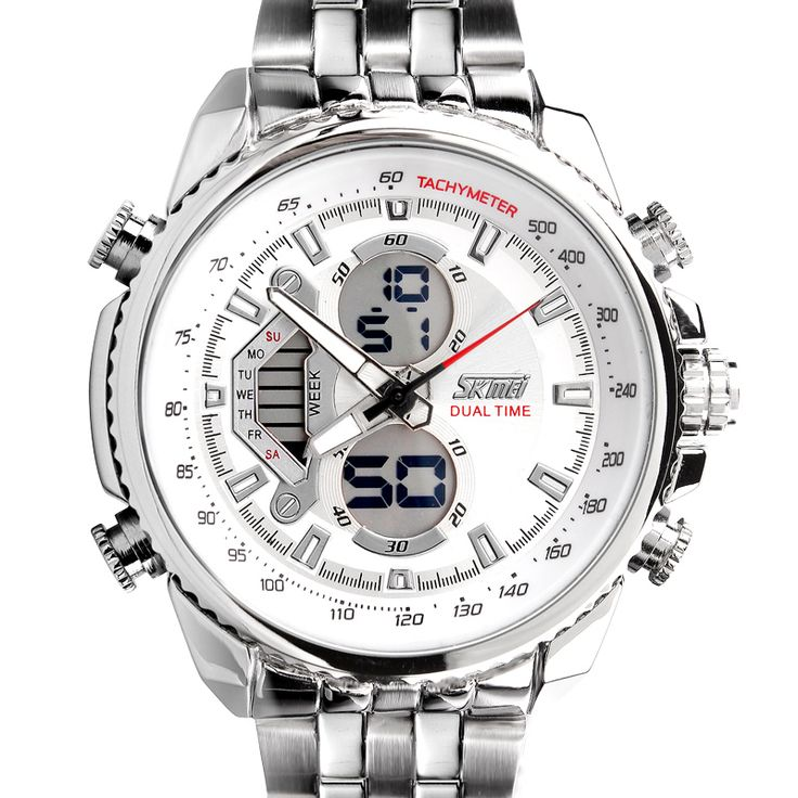 Homens relógios desportivos LED Multi-funcional Militar Relógios de Negócios Homens Full Steel Reloges Masculino Digital Led relógio eletrônico