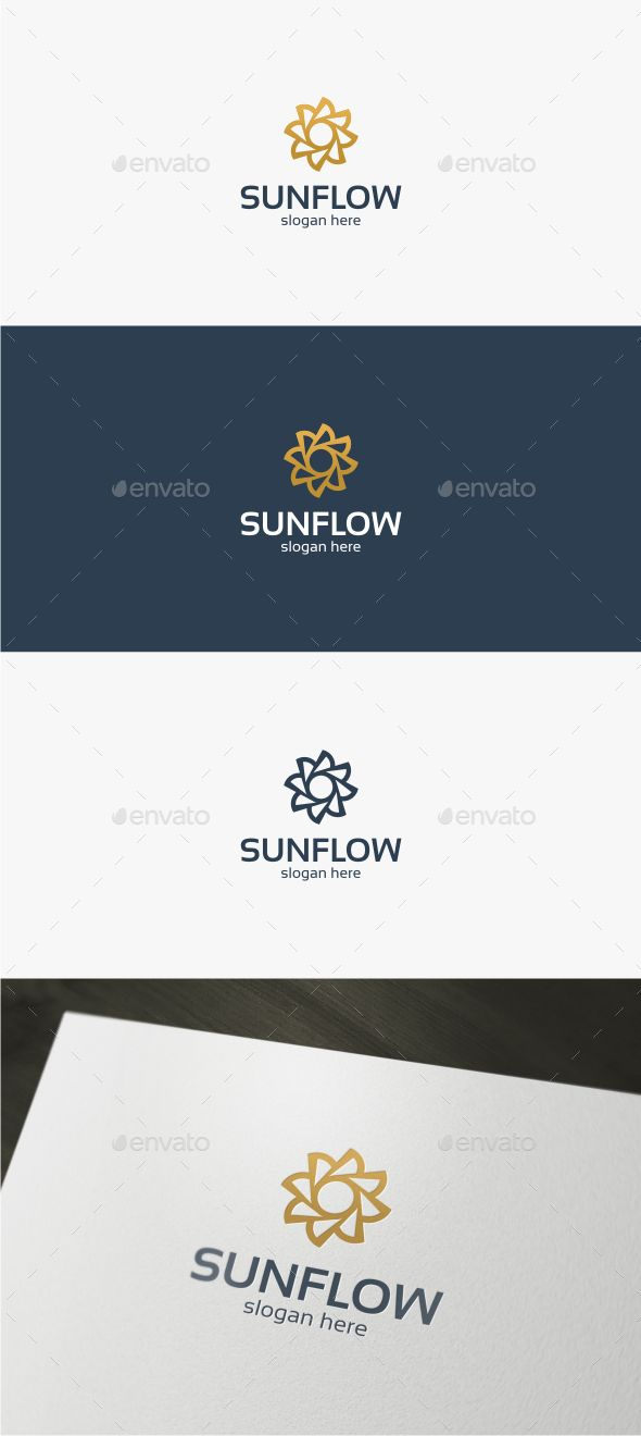 Sun Flower - Logo Template Vector EPS, AI Illustrator #logotype Download here: http://graphicriver.net/item/sun-flower-logo-template/14177848?ref=ksioks