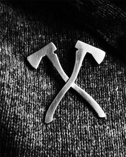 Axe pin. Possible arena token. For District 7 - so cooooool!!!!!!!