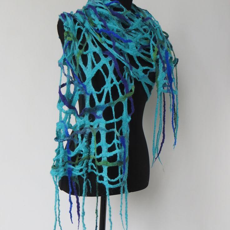 Blauw-groene sjaal