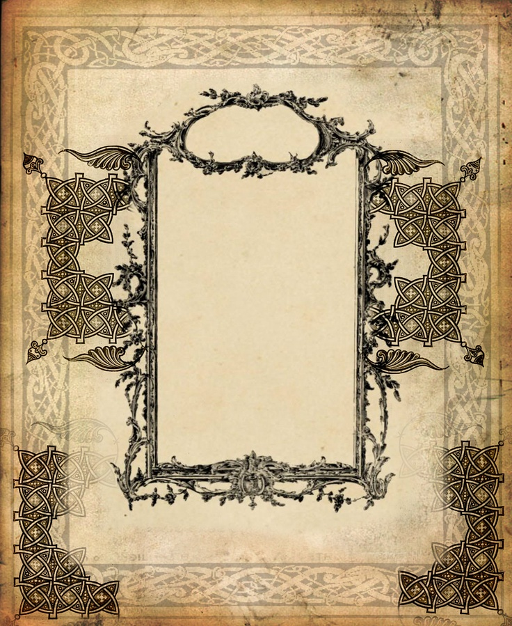 Book of Shadows: inspiration for page layouts. I would like to draw some myself, a simpler version of this.
