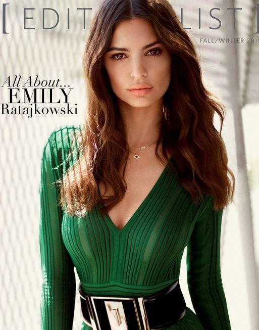 Who made Emily Ratajkowski's green jumpsuit?