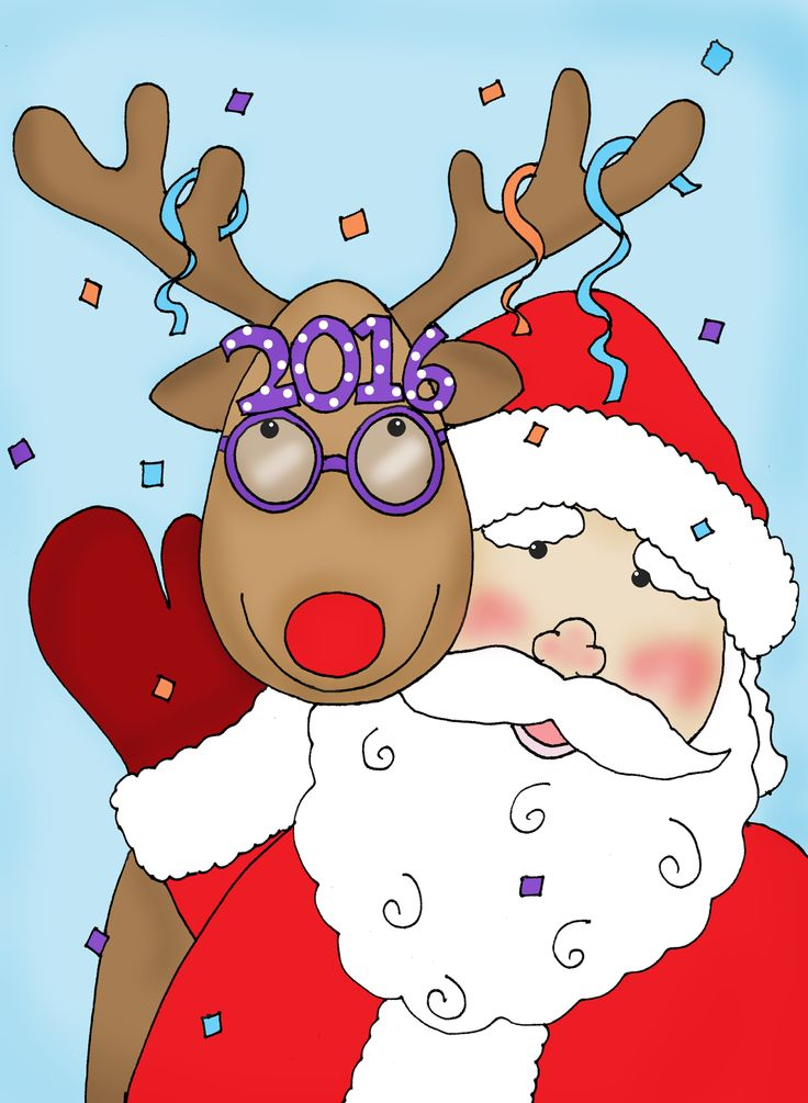deariedollsdigistamps.quenalbertini: Santa and Rudolph | Free Dearie Dolls Digi Stamps