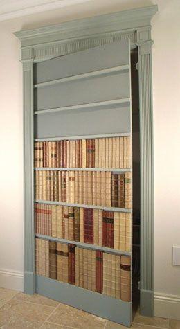 How to make a secret bookcase door ... http://www.manorbindery.co.uk/secret_door_installation.htm