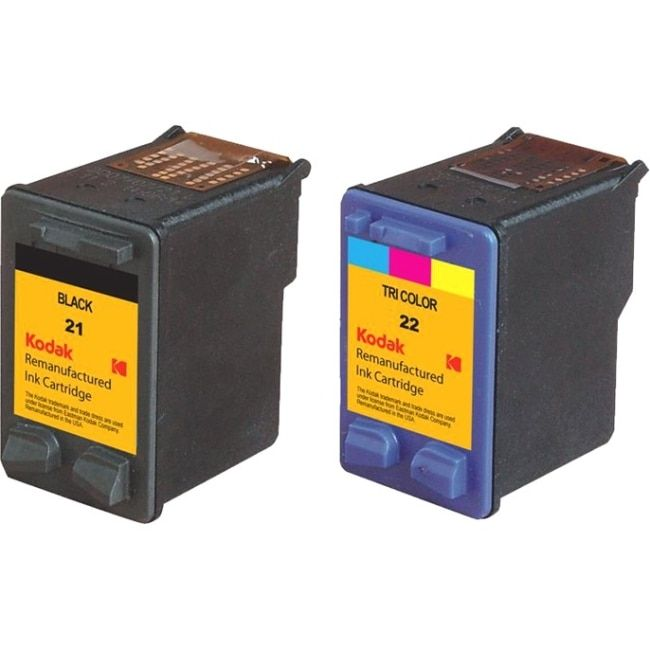 Kodak Remanufactured Ink Cartridge Combo Pack Compatible With HP 21 /, #C9509BN-KD