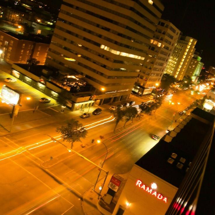 Downtown #Regina #Saskatchewan at night.