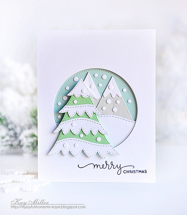 Merry Christmas and a Little Snowy Tree