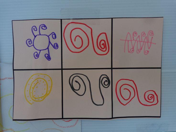 trouver 6 combinaisons différentes utilisant les spirales (ac aide cartes du dictionnaire graphique)