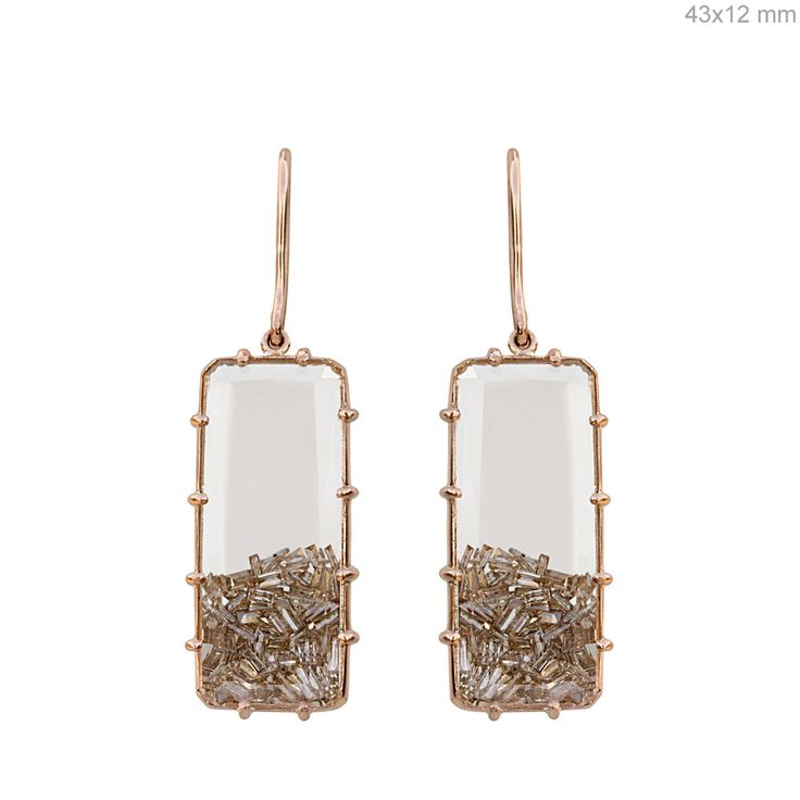 Diamond Baguettes Rose Gold Shaker Earrings #designerjewelry #jewelleryaddict #jaxemrata #jewelryaddict #jewelrymaking #jewelry #italianjewellery #ijl #londonjewellery #dubaijewellery #jckshow #bestselling #hotselling #hot #coolstuff #diamondstuds #solitaire #taylorswift #danbilzerian #selenagomez #kimkardashian #beyonce #beach #bikini #couturecollection #coutureshow #jcklasvegas #miamibeach @instagram #interior #interiordesign