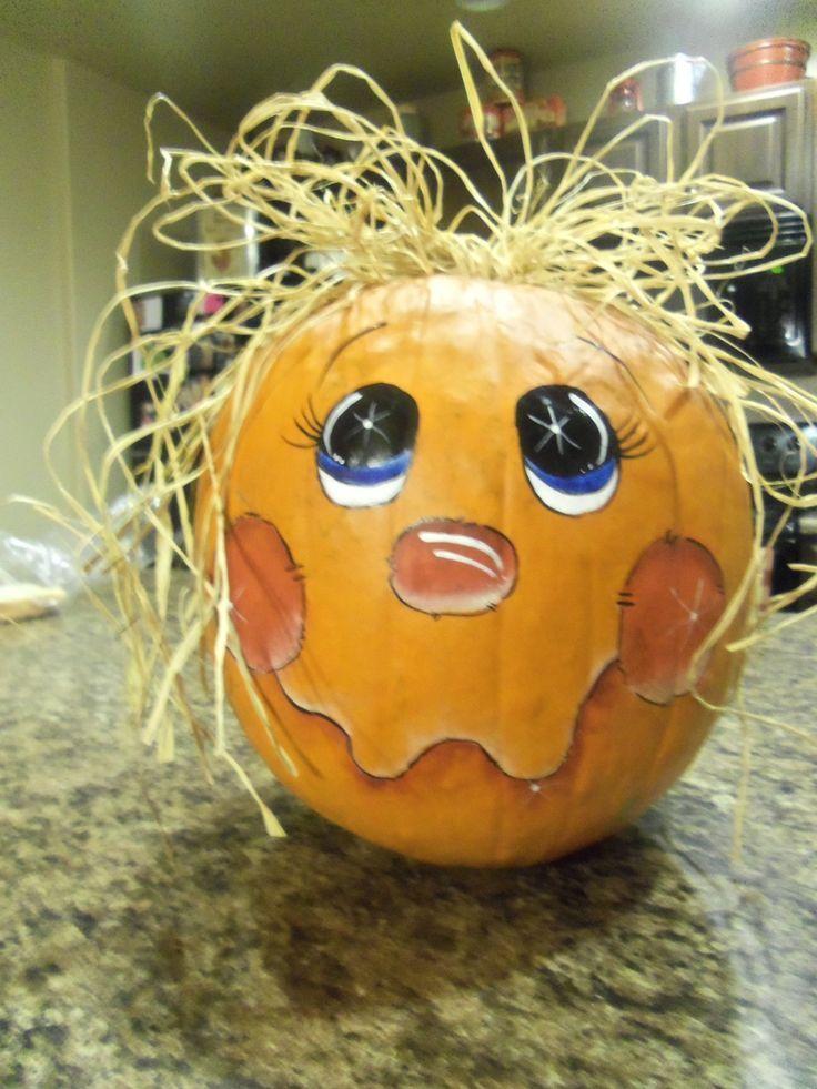 79 best Pumpkin art images on Pinterest Halloween pumpkins - halloween pumpkin painting ideas