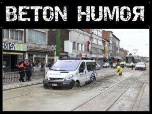Beton Humor politie en beton
