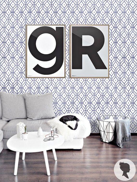 auto motif g om trique adh sif temporaire wallpaper par livettes id es maison pinterest. Black Bedroom Furniture Sets. Home Design Ideas