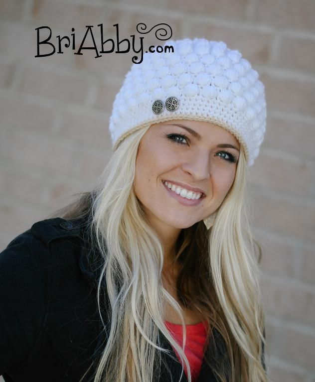 Women's/Girl's ... by BriAbby | Crocheting Pattern - Looking for your next project? You're going to love Women's/Girl's Bobble Stitch Hat by designer BriAbby. - via @Craftsy
