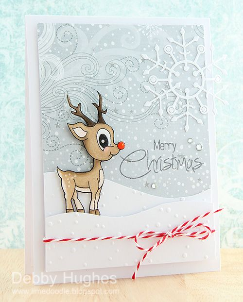 66 best Reindeer Christmas Cards images on Pinterest | Christmas ...