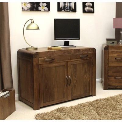 Baumhaus Shiro Hidden Home Office In Walnut | Wayfair UK