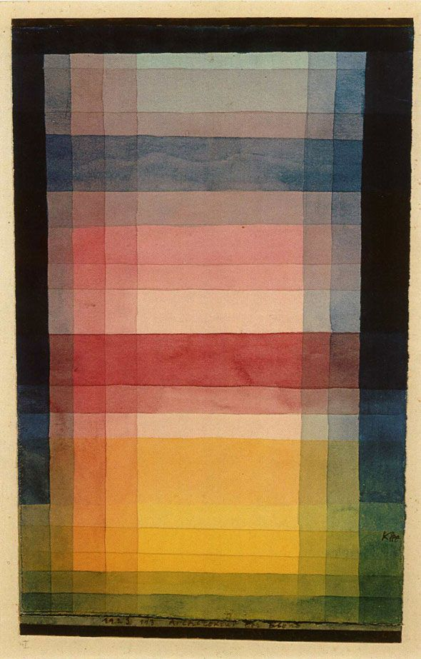Paul Klee color study. Fabulous. <3 Bauhaus <3