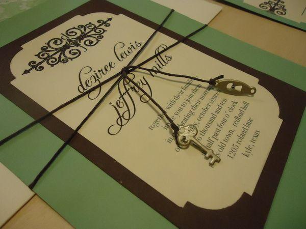 Key Themed Wedding Invitations: Skeleton Key Wedding Invitation Behance.net