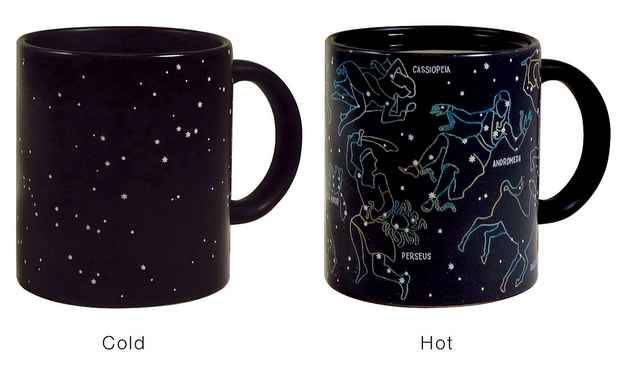 DAD:  A mug that brings the night sky to life.   Just add a hot drink and watch the constellations appear. (If you're outside the U.S., get it from the Science Museum shop.)
