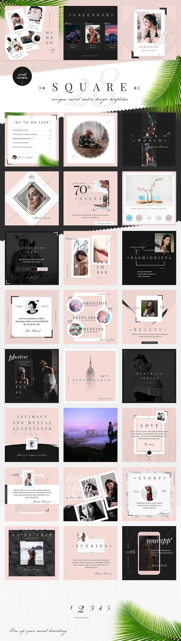 Venice: Elegant Social Media Designs Template PSD