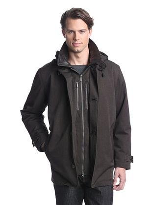 Rainforest Men's All Weather Parka with Removable Hood (Caviar)
